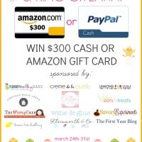 $300 Cash or Amazon Spring Giveaway