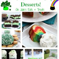 Get ready for all things green and rainbows. This round up is filled with St. Patrick's Day Desserts from the best bloggers!