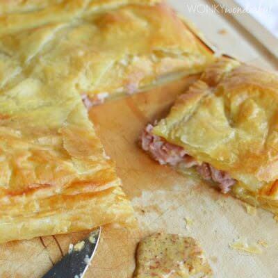 Ham Cheese Puff Pastry Bake Wonky Wonderful