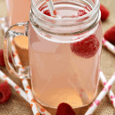 Pink Moscato Lemonade ~ Pink Lemonade spiked with Moscato, Loaded with Raspberries and Bubbly!
