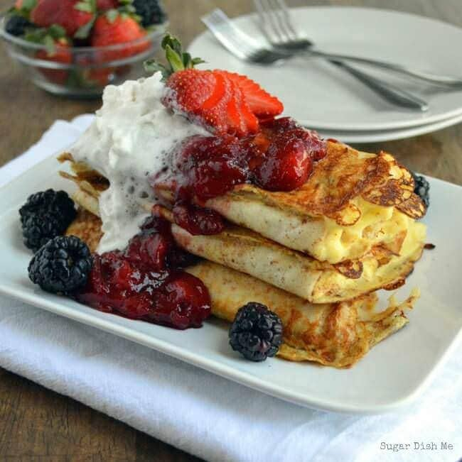 Berry Blintz Breakfast Enchiladas via www.sugardishme.com