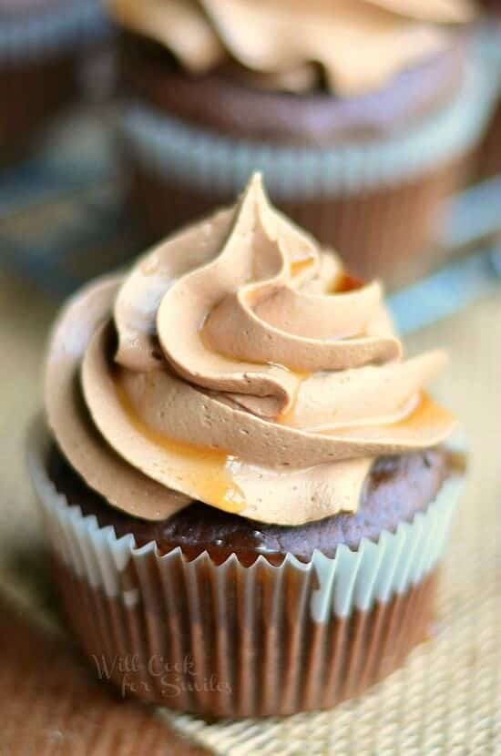 Bourbon-Chocolate-Cupcakes-with-Chocolate-Buttercream-Frosting-and-Bourbon-Glaze-from-willcookforsmiles.com_