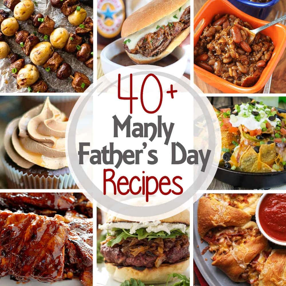 Treat Dad for Father's Day with his favorite foods -- meat, bacon, beer and treats! Recipes for Father's Day to make any celebration perfect!