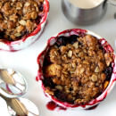 Nectarine Blueberry Crisp Recipe #breakfast #dessert