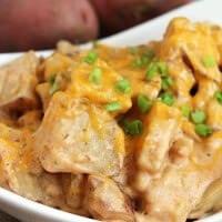 Crock Pot Cheesy Ranch Potatoes ~ Super Easy, Cheesy Crock Pot Potatoes Loaded with Ranch!