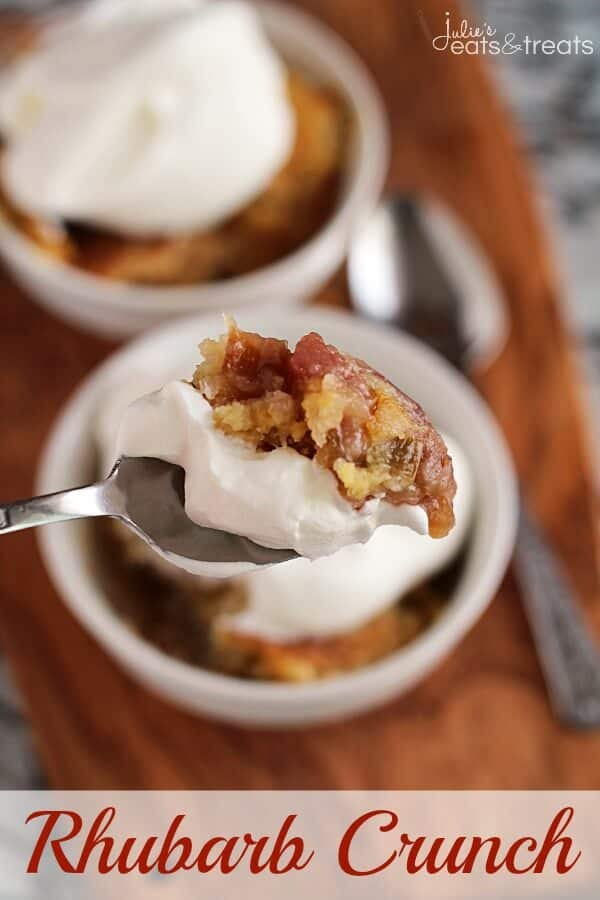 Rhubarb Crunch ~ Super Easy and Simply Delicious Rhubarb Dump Dessert!