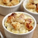 Shrimp Pepper Jack Mac & Cheese ~ Lightened Up Mac & Cheese with a Kick! Topped with Crunchy Shrimp!