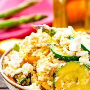 Vegetable Couscous Salad in bowl