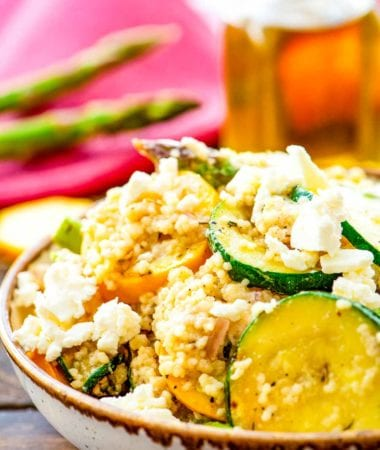 Vegetable Couscous Salad in bowl