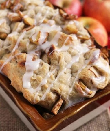 Apple Pull Apart Bread ~ Easy Pull Apart Bread Loaded with Apples and Topped with Icing!