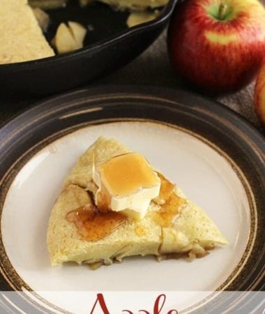 Apple Skillet Pancake ~ Easy Pancake Made in Your Skillet and Loaded with Apples!