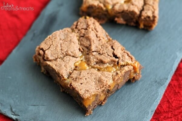 Chocolate Caramel Brownies ~ Only 5 Ingredients Stand Between You and Chocolate Caramel Goodness!