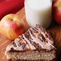 Cinnamon Apple Cream Cheese Coffee Cake ~ Amazing Coffee Cake Topped with Cream Cheese, Apples, Crumb Topping and Cinnamon Glaze!