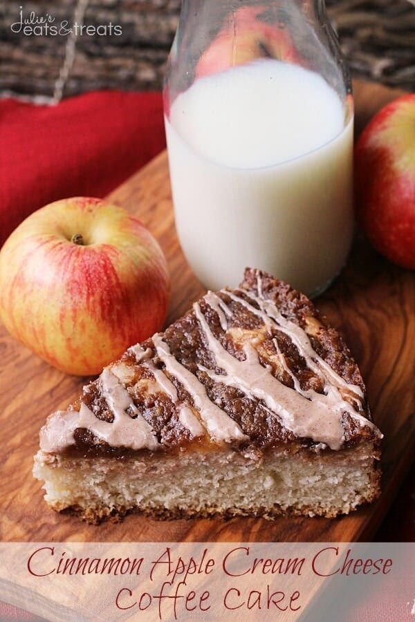 Cinnamon Apple Cream Cheese Coffee Cake - Julie's Eats & Treats