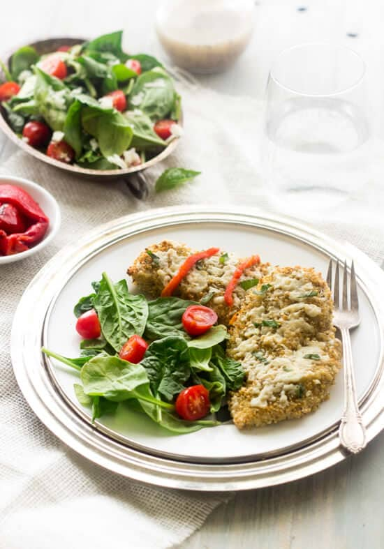 Goat Cheese and Quinoa Crusted Chicken - Foodfaithfitness.com