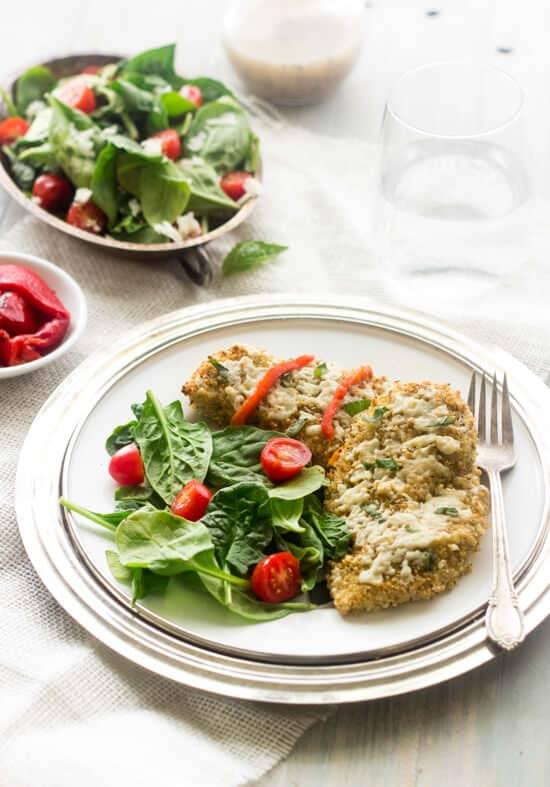 Goat Cheese and Quinoa Crusted Chicken - Foodfaithfitness.com