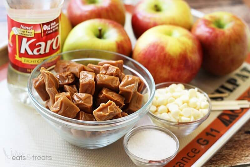 Salted Caramel Apples ~ Delicious Homemade Caramel Apples with a Sprinkle of Salt!