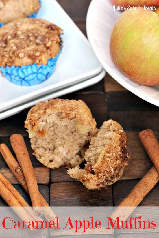 Caramel Apple Muffins ~ Love Caramel Apples? Get all the flavor in these muffins full of caramel bits, cinnamon and apples!