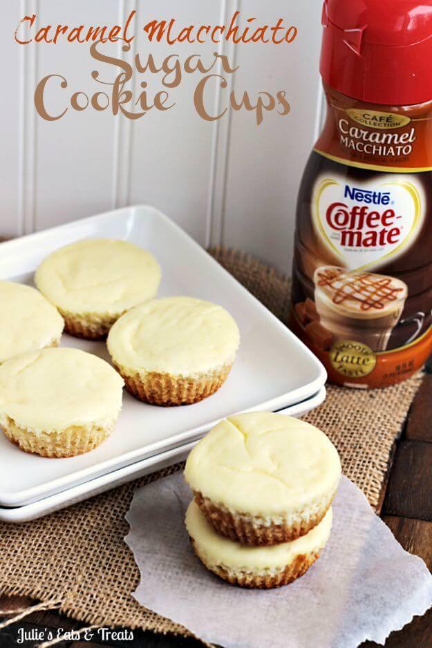 Caramel Macchiato Cheesecake Sugar Cookie Cups