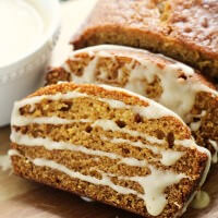 Pumpkin Bread with Caramel Glaze ~ The Perfect Pumpkin Bread Topped with a To-Die-For Caramel Glaze!