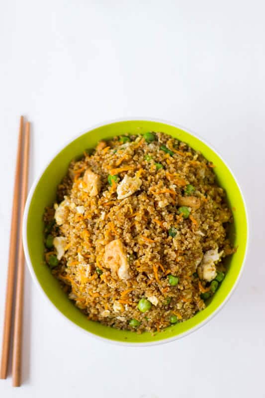 Quinoa and Tofu Stir-Fry is a healthier version of regular stir-fry that's still packed with flavour and is an easy week night dinner!-2