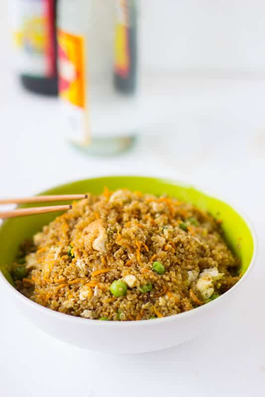 Quinoa and Tofu Stir-Fry is a healthier version of regular stir-fry that's still packed with flavour and is an easy week night dinner!-3