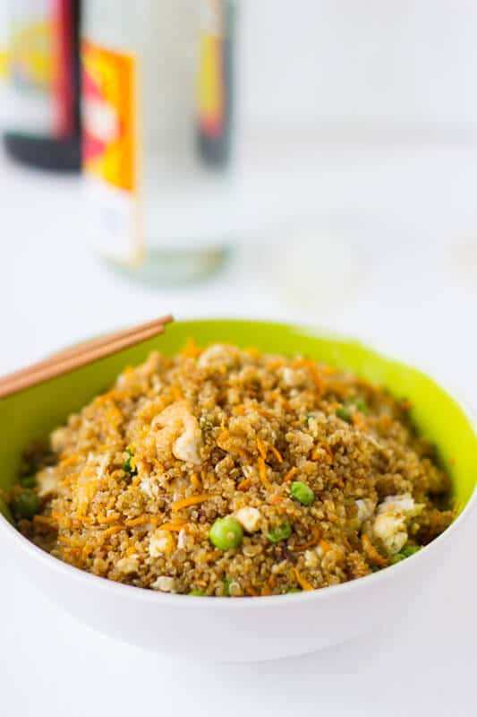 Quinoa and Tofu Stir-Fry is a healthier version of regular stir-fry that's still packed with flavour and is an easy week night dinner!-4