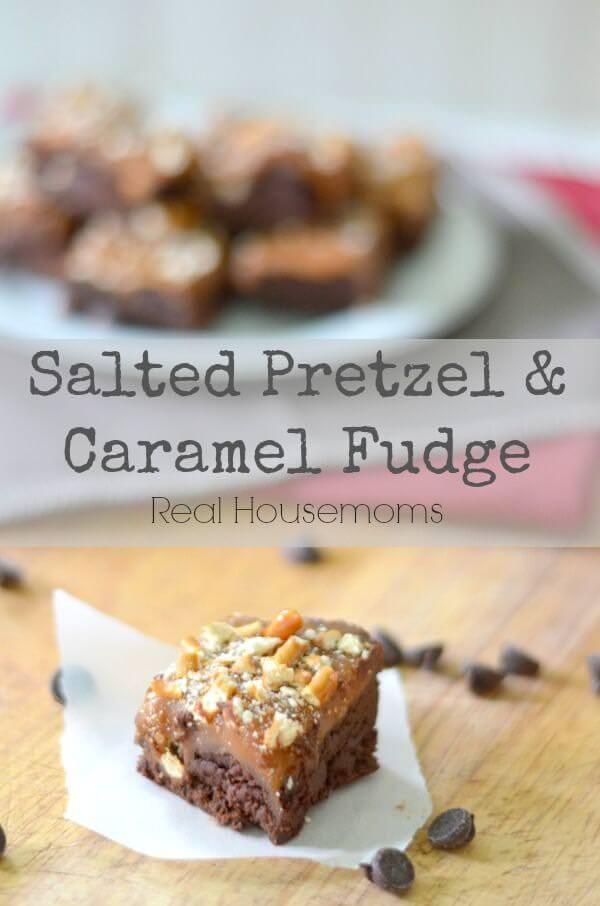 Salted Pretzel & Caramel Fudge