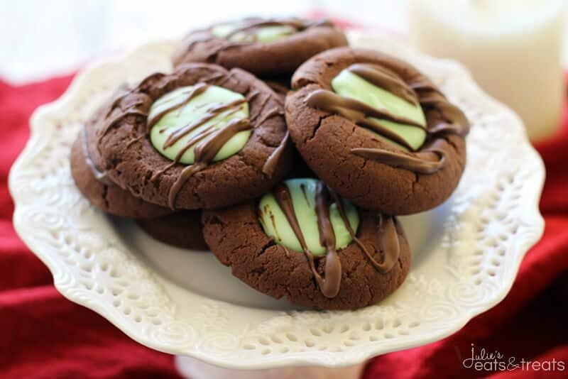 Chocolate Mint Thumbprint Cookies - Julie's Eats & Treats
