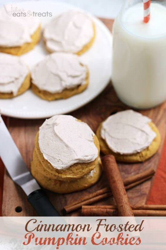 Cinnamon Frosted Pumpkin Cookies