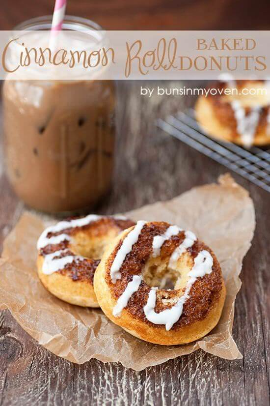 Cinnamon Roll Baked Donuts
