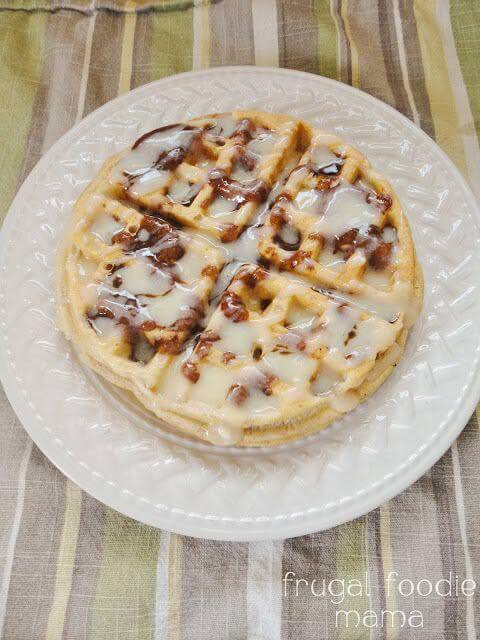Cinnamon Roll Topping for Waffles & Pancakes