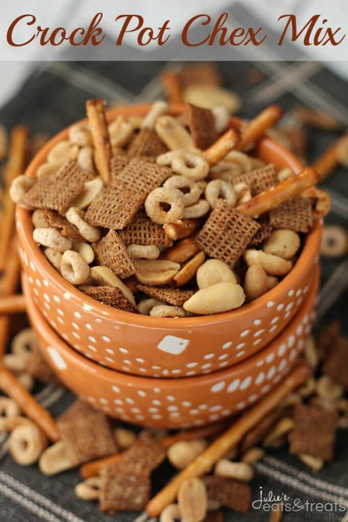 Crock Pot Chex Mix ~ Simple and Delicious Chex Mix Loaded with Cheerios, Pretzels, Peanuts and Chex Made in your Crock Pot!