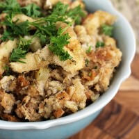 Crock Pot Stuffing ~ Slow Cooked Stuffing Stuffed with Herbs & Seasonings! So Easy and Delicious!