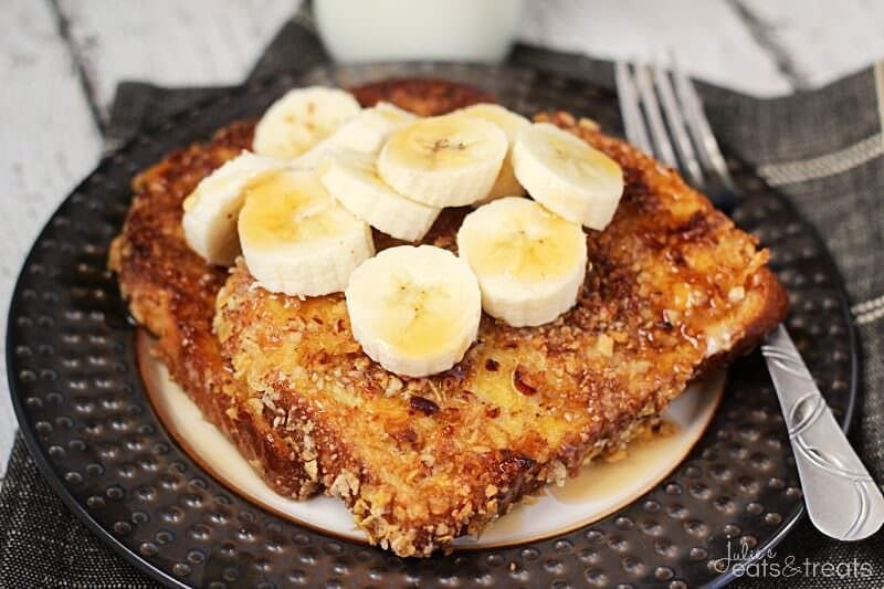 Crunchy Pecan Banana French Toast Landscape