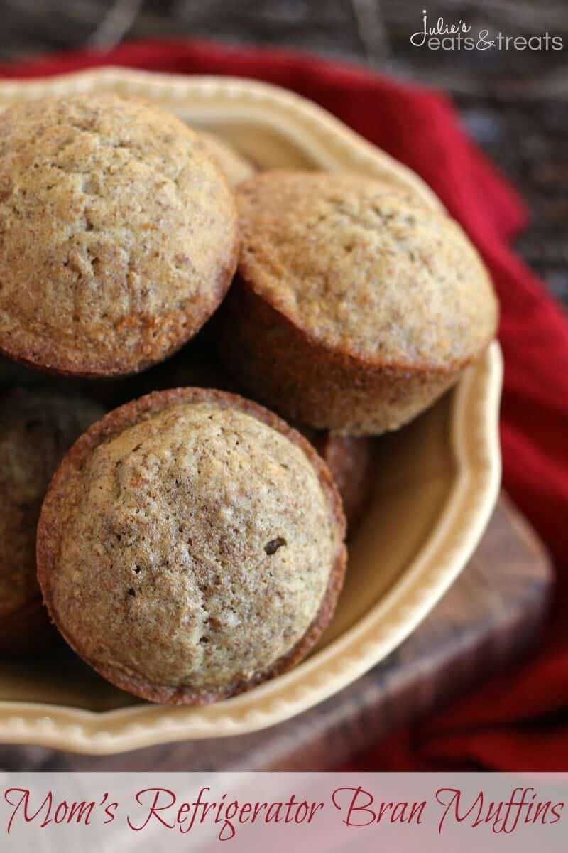 Moms Refrigerator Bran Muffins ~ Delicious, Moist Bran Muffins Straight from Mom's Recipe Box!