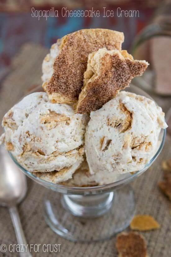 Sopapilla Cheesecake Ice Cream