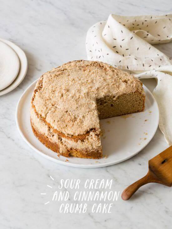 Sour Cream and Cinnamon Crumb Cake
