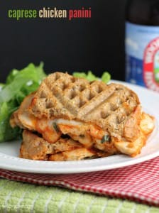 Caprese Chicken Panini: A quick and easy sandwich for lunch or dinner!