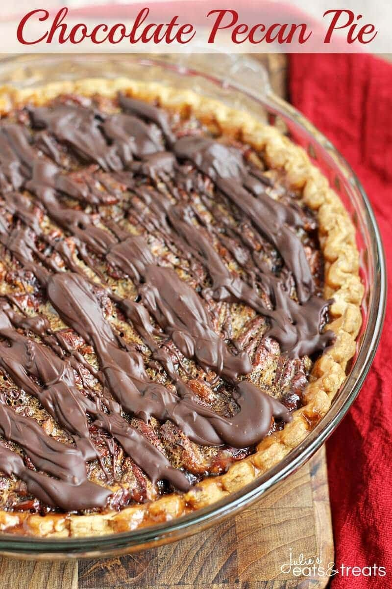 Chocolate Pecan Pie ~ A Traditional, Classic Pie Loaded with Pecans ...