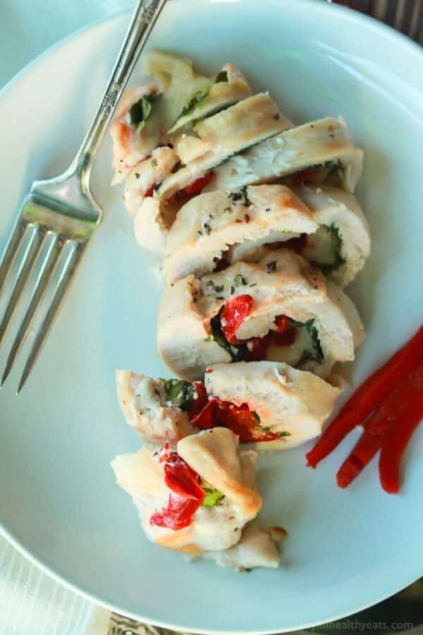 Roasted Red Pepper & Kale Stuffed Chicken Breast with Mozzarella-3
