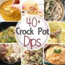 Check out these 40 Delicious Dip Recipes Made in the Slow Cooker! The Perfect Appetizers for Your Holiday Parties! Grab your Crock Pot and Take the Easy Route!