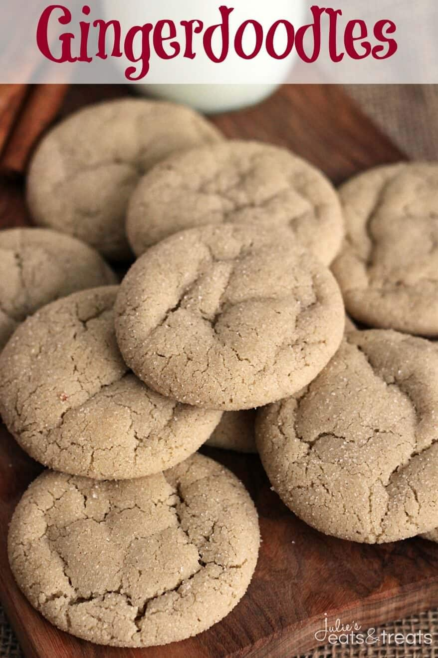 Gingerdoodles ~ Delicious Cookies that are the Perfect Marriage Between a Snickerdoodle and a Gingersnap!