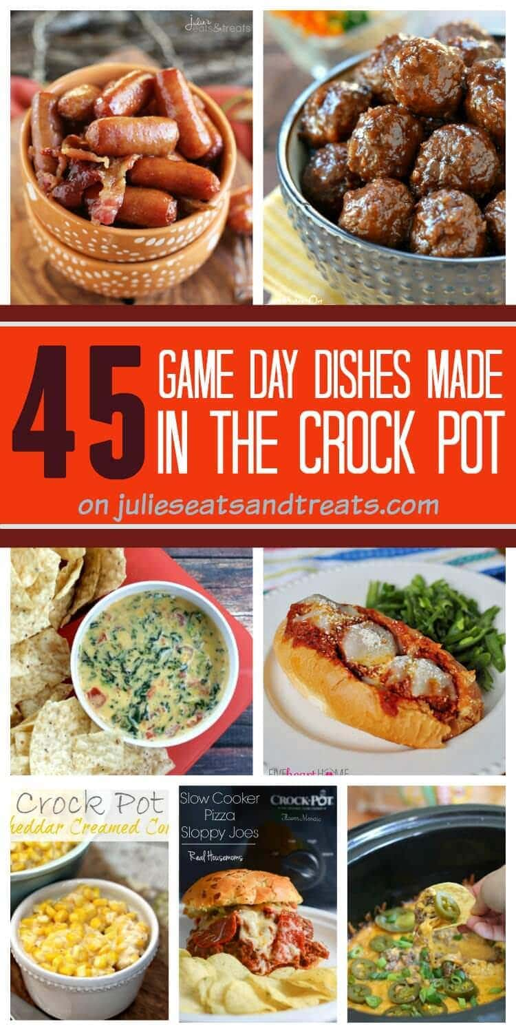 45 Game Day Dishes Made in the Crock Pot on Julie's Eats & Treats