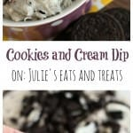 Cookies and Cream Dip ~ Quick, Easy Sweet Dip that's loaded with Oreos!