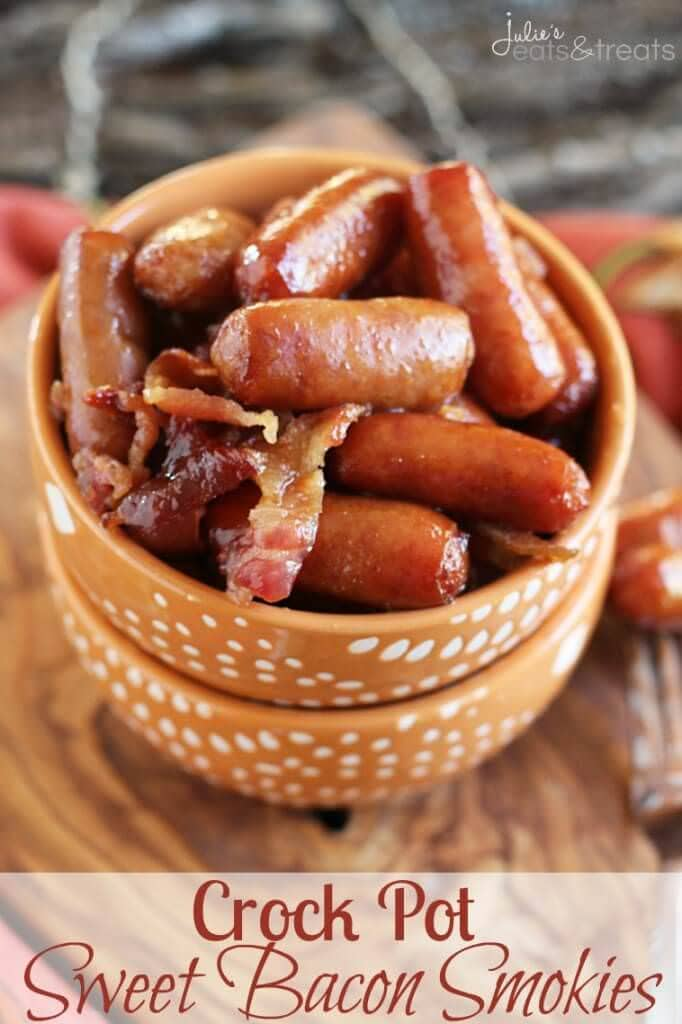 Crock Pot Sweet Bacon Smokies