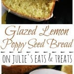 Glazed Lemon Poppy Seed Bread ~ Quick & Easy Lemon Bread with Poppy Seeds! Topped off with a Delicious Lemon Glaze!