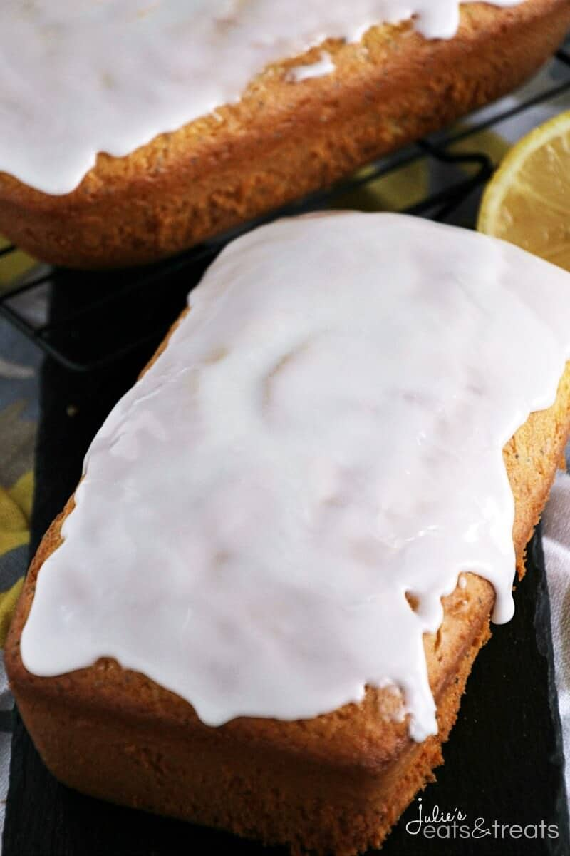 Glazed Lemon Poppy Seed Bread ~ Quick & Easy Lemon Bread with Poppy ...