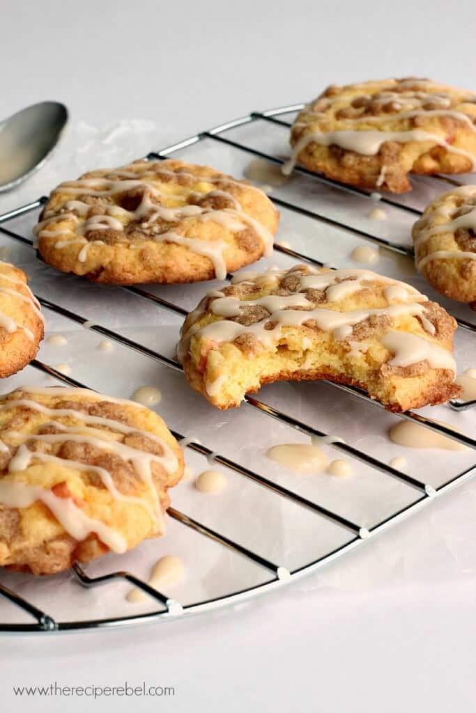 Maple Glazed Apple Crisp Cookies www.thereciperebel.com 3