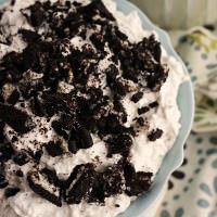 Oreo Fluff ~ Light, Fluffy Dessert or Salad Loaded with Crushed Oreos and Super Simple and Easy!